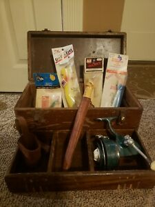 Grandpa's Tackle Box With New old Lures