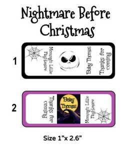 60 The Nightmare Before Christmas. Baby Shower Nugget Candy Wrapper Party Favors $6.00