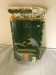 Vintage Holiday Luminarias Guide Lights 6 Bags amp; Candles Yard Decor Green Red