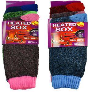 6 Pairs Womens Winter Warm Work Thermal Heated Heavy Duty Boots Socks Size 9 11 $11.49