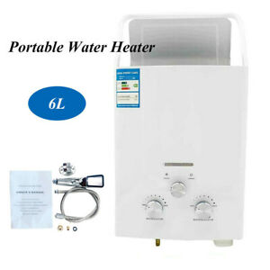 Portable Tankless Hot Water Heater Propane Gas RV Camper Truck 6L 2800Pa