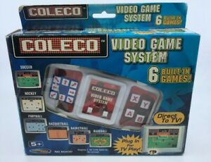 Coleco Video Game System 6 Built-In Games with new batteries. TV games