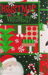 Santa/Frosty/Penguin's Bright &Merry Christmas Wishes Vinyl Tablecloth Var Sizes