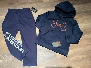 Under Armour Boys Size 4 Lot Of 2 New Hoodie Pants (4t)