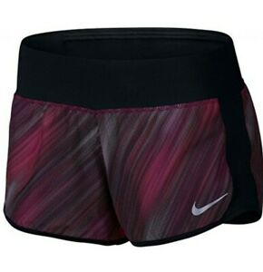 NWT Womens Nike Running Active Workout Dri-Fit Fly-By Shorts Large Red Blend