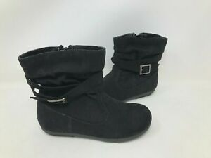NEW SO Youth Girls Layne Zipper Buckle Ankle Boots Black #83941 101U rk $20.99