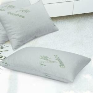 Bamboo Pillow Shredded Latex Foam Pillow with Zippered Home Hotel Pillows