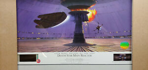 STAR WARS WILLITTS RALPH MCQUARRIE SIGNED LITHOGRAPH DEATH STAR MAIN REACTOR AP3