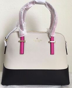 NWT Kate Spade Cedar Street Maise Bag Purse $298 Black Pebble Vivid Snapdragon