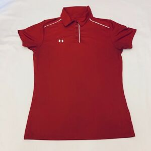 Under Armour Red Short Sleeve Golf Polo Shirt Women's Small S