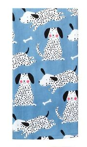 Dog Lover's WAGS Kitchen Towel Dual Purpose Flat Weave Front Terry Cloth Back