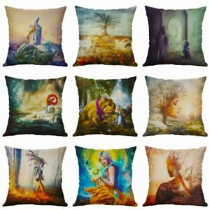 PillowCase Home Waist Covers Pillow Cushion Cover Characters Sofa Decor Abstract $2.97
