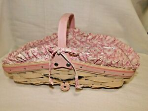 Longaberger Horizon of Hope Cancer Awareness 2007 Rosebud Basket Combo