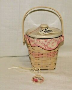 Longaberger Horizon of Hope Cancer Awareness 2002 Basket Combo