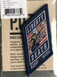 5.11 Tactical Patch of the Month March 18 (POTM) Liberty or Death Patrick Henry