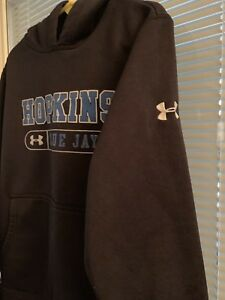 Johns Hopkins Blue Jays Under Armour Hoodie Jacket Black Boys 7 8 $20.00