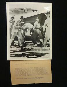 WW2 Original ACME Telephoto US Airman POW released from Bulgaria Dances in Italy