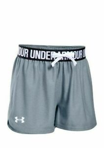 Under Armour Girls Play Up Shorts Steel SZ YXS NWT
