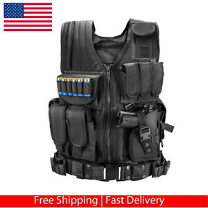 Tactical Vest Adjustable Military Army Molle Combat Airsoft Hunting US Seller