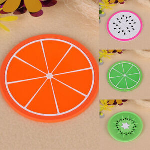 Placemat Mat Pad Tea Fruit Coaster Silicone 1pcs 7pcs Drink Holder Cup