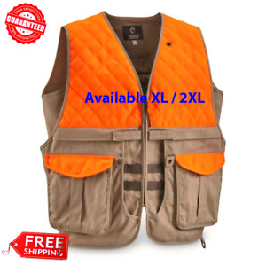Guide Gear Mens Upland Vest Hunting Outdoor with Safety Pocket Size XL  2XL