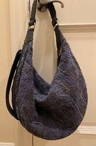 CUTE!! Marc by Marc Jacobs Women's NWT Graphic Design Hobo Shoulder Bag Blue