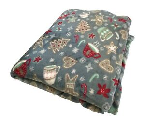 Holiday Christmas Throw Blanket: Gingerbread Cookies Hot Coco Design