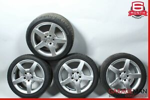 03-11 Mercedes R171 SLK350 AMG Sport 7.5  8.5x17 Wheel Rim Staggered Set of 4