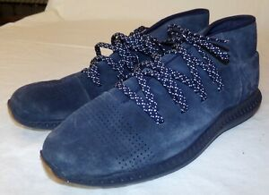 Under Armour Shoes Mens Athletic 9 Veloce Mid Height Blue Suede Leather $35.92