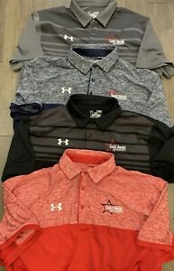 Lot Of 4 Under Armour Gold Medal Gymnastics Loose Golf Polo Shirts Size Mens XL
