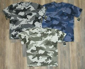 NWT NIKE Men's Dri-fit Big & Tall Camouflage Athletic T-Shirt Gray Green Blue
