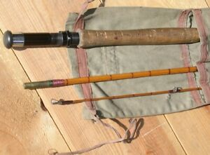 """Vintage 3 Piece Alex Martin """"Henry"""" Bamboo Fly Rod with Canvas Case"""