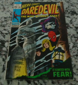 Daredevil #54 (1969) Marvel Key Issue Comic Silver Age Spider-Man Appearance