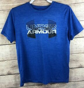 Under Armour Short Sleeve Loose Fit Shirt Boys Size Youth Large YLG - Blue