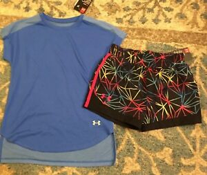 NWT GIRL UNDER ARMOUR 2 piece Outfit~Shirt & Shorts~Size 6Youth XS