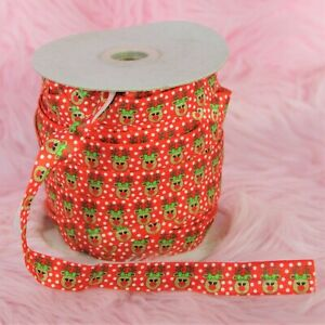 Sewing Red Reindeer FOE Fold over soft elastic CHRISTMAS HOLIDAY 3YD $2.99