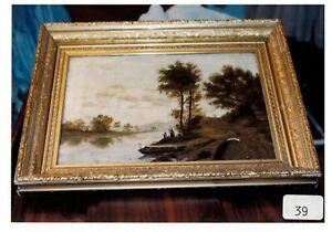 ANTIQUE OIL PAINTING HUDSON RIVER  $1000.00