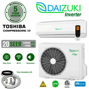 12000 BTU Air Conditioner Mini Split 20 SEER INVERTER AC Ductless Only Cold 220V