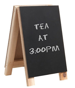 Decorative Freestanding Tabletop Wooden Easel Chalkboard Display Sign