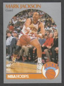 1990 1991 NBA Hoops Mark Jackson Knicks Card #205 w Menendez Brothers Courtside $10.95