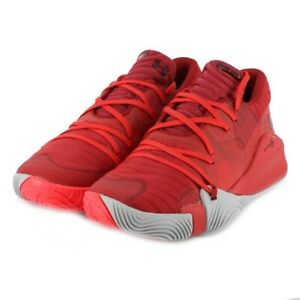 Under Armour Men's Spawn Low Basketball Shoe Aruba Red 3021263 603 Size 10.5 $89.00