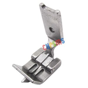 Double Needle Center Edge WITH SPRING GUIDE Foot FOR SINGER 112W JUKI LH 515 $7.64