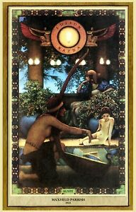 Maxfield Parrish Egypt Art Deco Print 11quot; x 17quot; on Poster Stock Free Samp;H $12.95