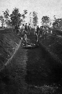 New 5x7 Civil War Photo: Burial of Soldiers at Andersonville Prison Georgia $4.99