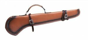 LEATHER RIFLE SHOTGUN SCABBARD HUNTING STORAGE for HORSE CAR MOTORCYCLE