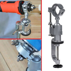 Clamp-on Grinder Holder Bench Vise for Electric Drill Stand 360 Rotating