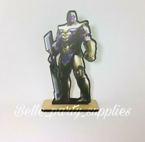 10quot; Avengers Thanos Wood Stand Party Prop Centerpiece Birthday Table Decoration $8.99