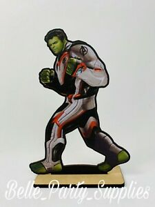 10quot; Avengers The Hulk Wood Stand Party Prop Centerpiece Birthday Tab Decoration $8.99