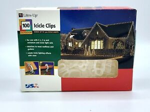 New! 100 Curtain Light Clips For Icicle Style Or Swag Lights Free Shipping