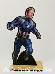 10quot; Avengers Captain America Wood Stand Party Prop Centerpiece Birthday Decorati $8.99